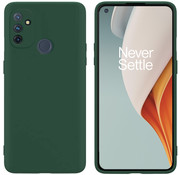 OPPRO OnePlus Nord N100 Hoesje Liquid Silicone Groen