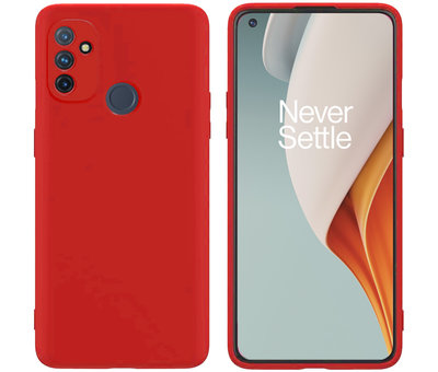 OPPRO OnePlus Nord N100 Hoesje Liquid Silicone Rood