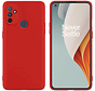 OnePlus Nord N100 Hoesje Liquid Silicone Rood