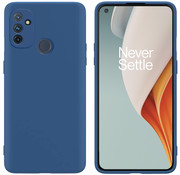 OPPRO OnePlus Nord N100 Hoesje Liquid Silicone Blauw