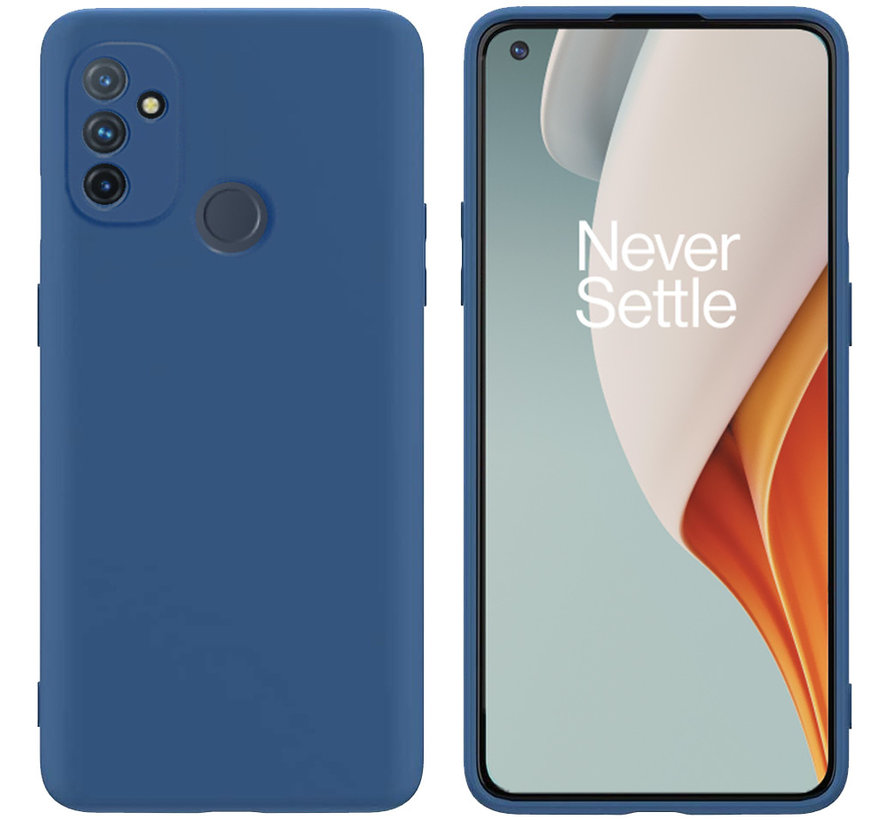 OnePlus Nord N100 Hoesje Liquid Silicone Blauw