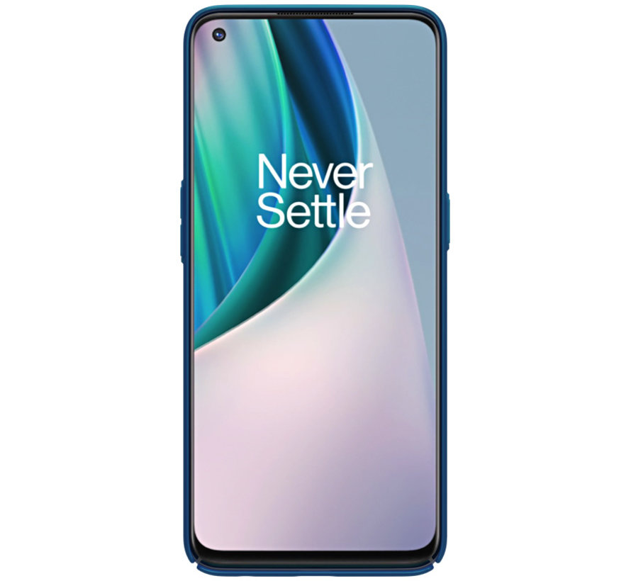 OnePlus Nord N10 5G Case Super Frosted Shield Blau