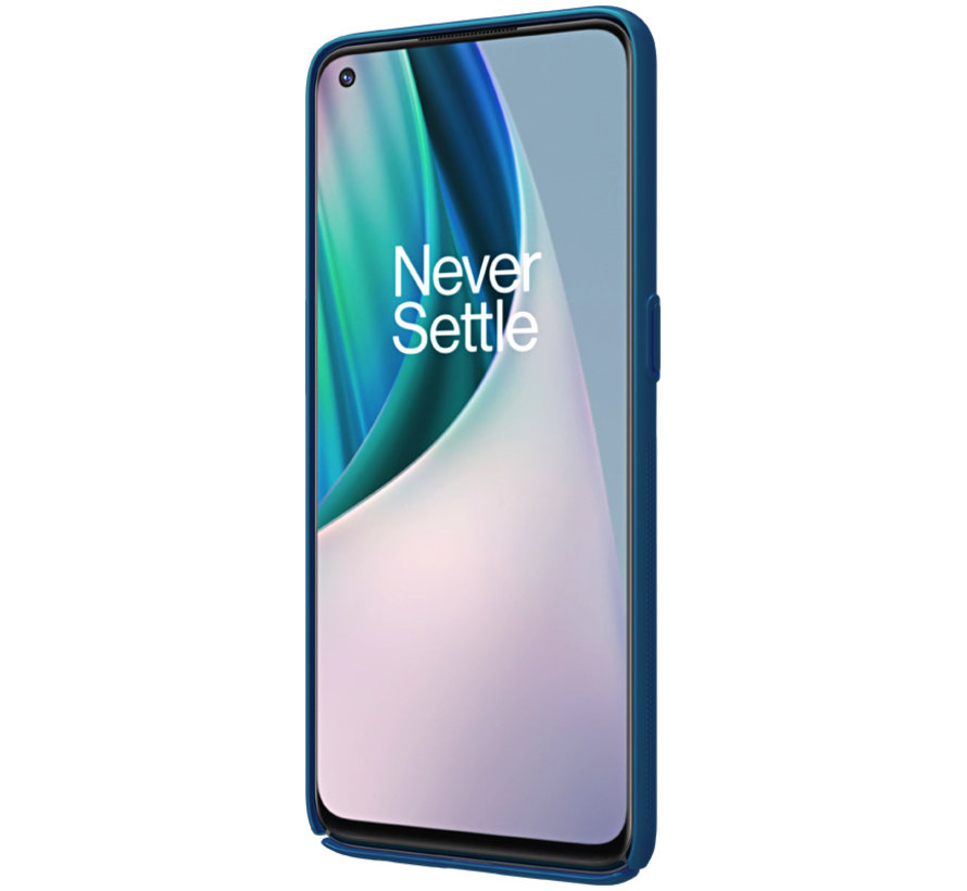 OnePlus Nord N10 5G Hoesje Super Frosted Shield Blauw