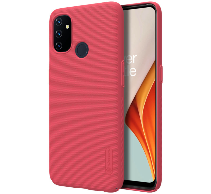 OnePlus Nord N100 Hoesje Super Frosted Shield Rood
