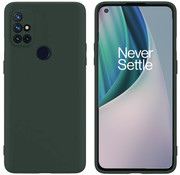 OPPRO OnePlus Nord N10 5G Hoesje Liquid Silicone Groen