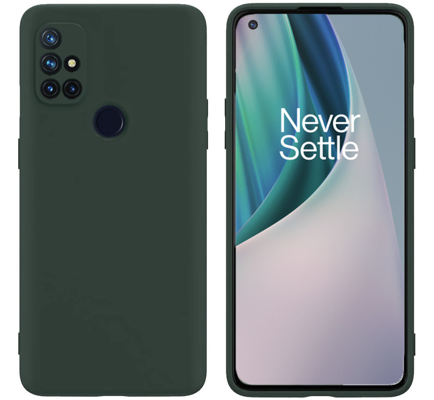 OnePlus Nord N10 5G Case Flüssiges Silikongrün