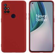 OPPRO OnePlus Nord N10 5G Case Flüssiges Silikonrot