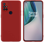 OPPRO OnePlus Nord N10 5G Hoesje Liquid Silicone Rood