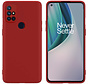 OnePlus Nord N10 5G Hoesje Liquid Silicone Rood