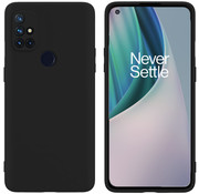 OPPRO OnePlus Nord N10 5G Case Liquid Silicone Black