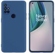 OPPRO OnePlus Nord N10 5G Case Flüssiges Silikonblau