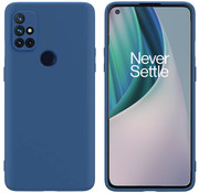 OPPRO OnePlus Nord N10 5G Hoesje Liquid Silicone Blauw