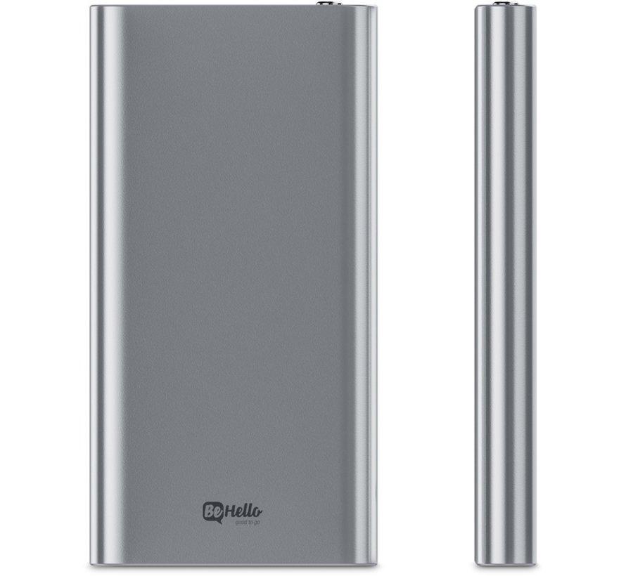 Powerbank 8000 mAh Ultradünnes Aluminium Silber