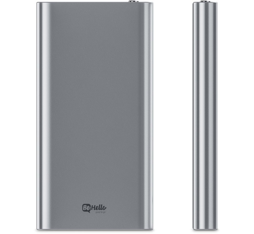 Powerbank 8000 mAh Ultrathin Aluminum Silver