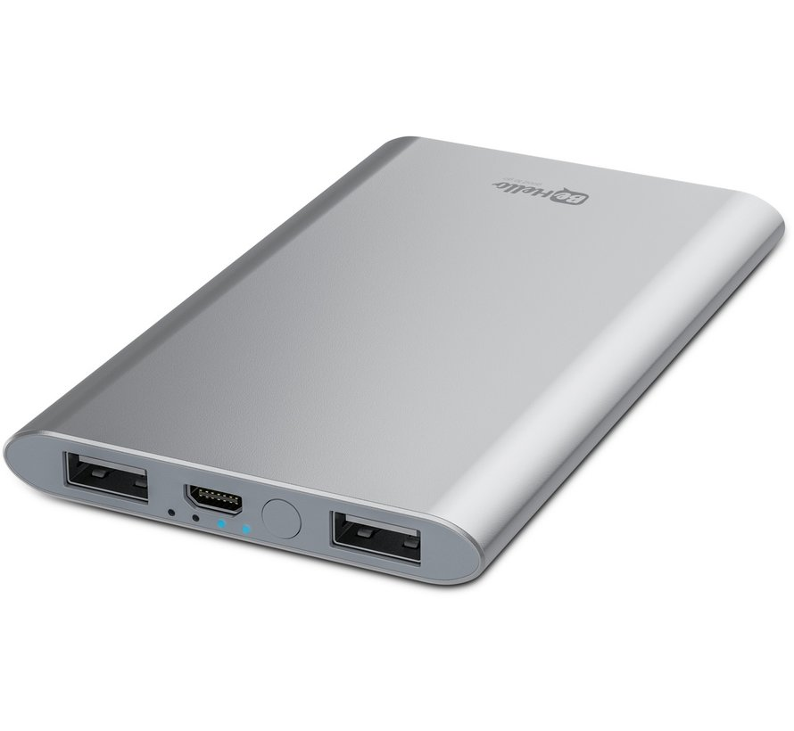Powerbank 4000 mAh Ultradünnes Aluminium Silber