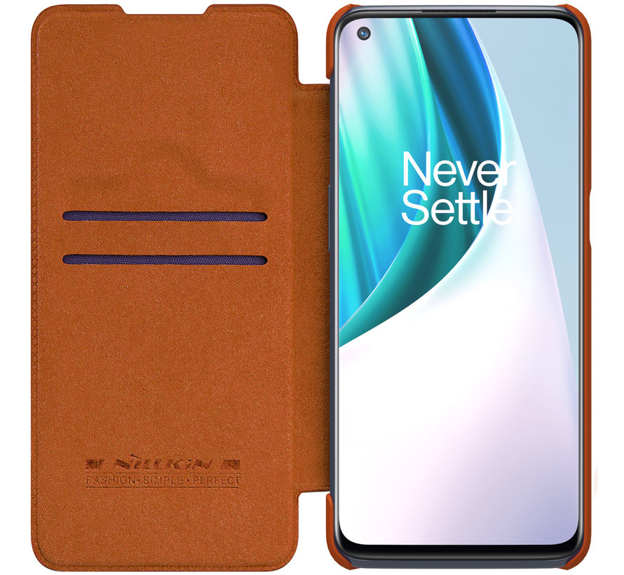 OnePlus Nord N10 5G Flip Fall Qin Brown