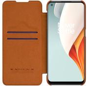 Nillkin OnePlus Nord N100 Flip Case Qin Brown