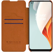 Nillkin OnePlus Nord N100 Flip Fall Qin Brown