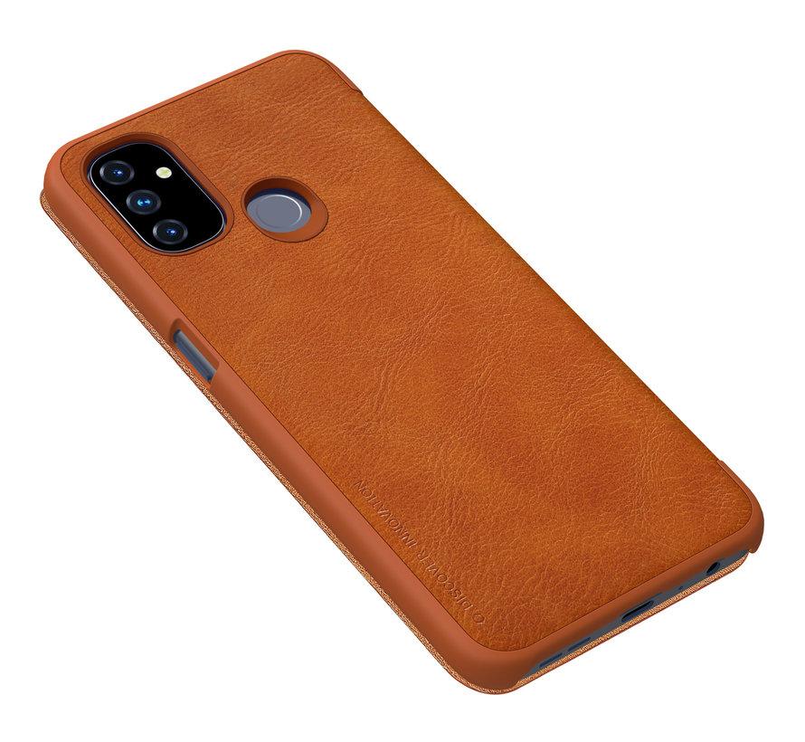 OnePlus Nord N100 Flip Case Qin Brown