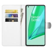 OPPRO OnePlus 9 Pro Wallet Flip Case Weiß