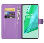 OPPRO OnePlus 9 Pro Wallet Flip Case Lila