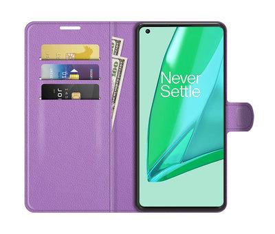 OPPRO OnePlus 9 Pro Wallet Flip Case Paars