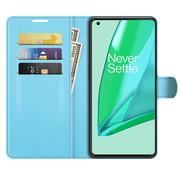 OPPRO OnePlus 9 Pro Wallet Flip Case Blauw