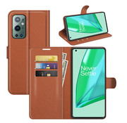 OPPRO OnePlus 9 Pro Wallet Flip Case Brown