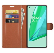 OPPRO OnePlus 9 Pro Wallet Flip Case Braun