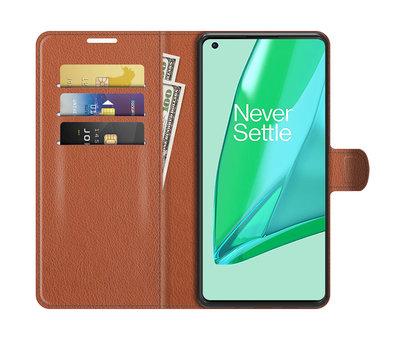 OPPRO OnePlus 9 Pro Wallet Flip Case Bruin