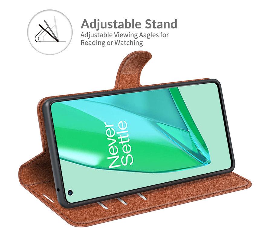 OnePlus 9 Pro Wallet Flip Case Braun