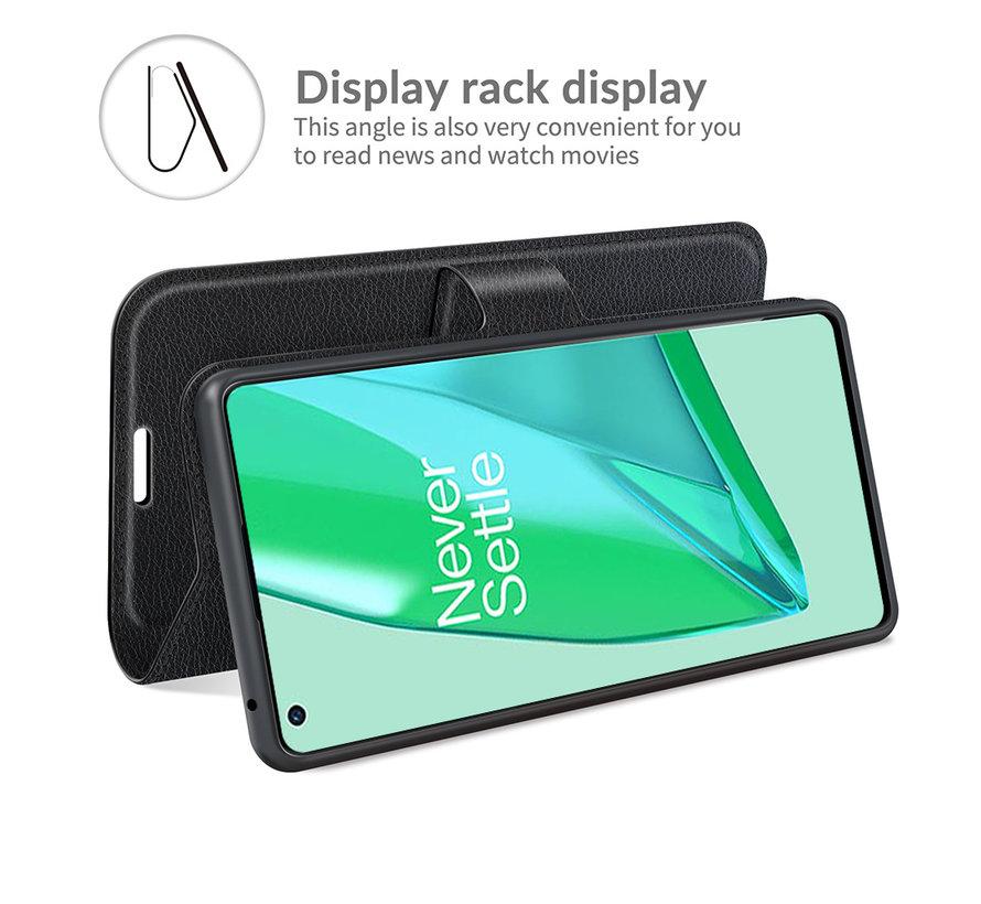 OnePlus 9 Pro Wallet Flip Case Zwart