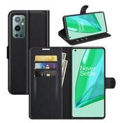 OPPRO OnePlus 9 Pro Wallet Flip Case Black