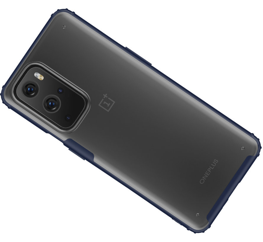 OnePlus 9 Pro Merge Bumper Hoesje Blauw