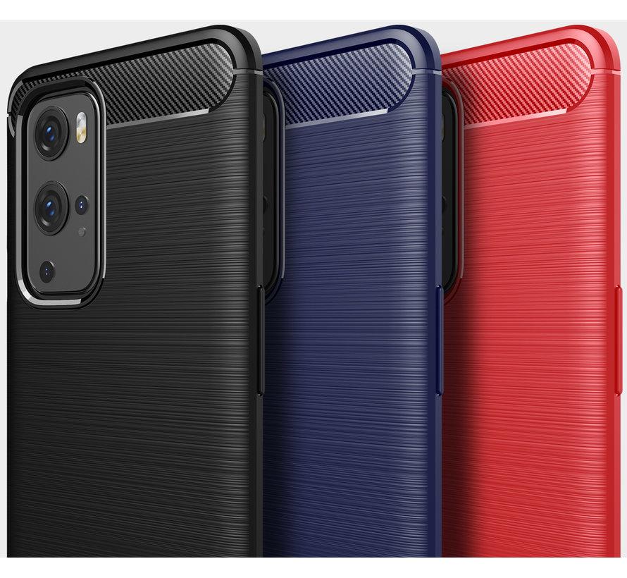 OnePlus 9 Pro Gehäuse gebürstet Carbon Red
