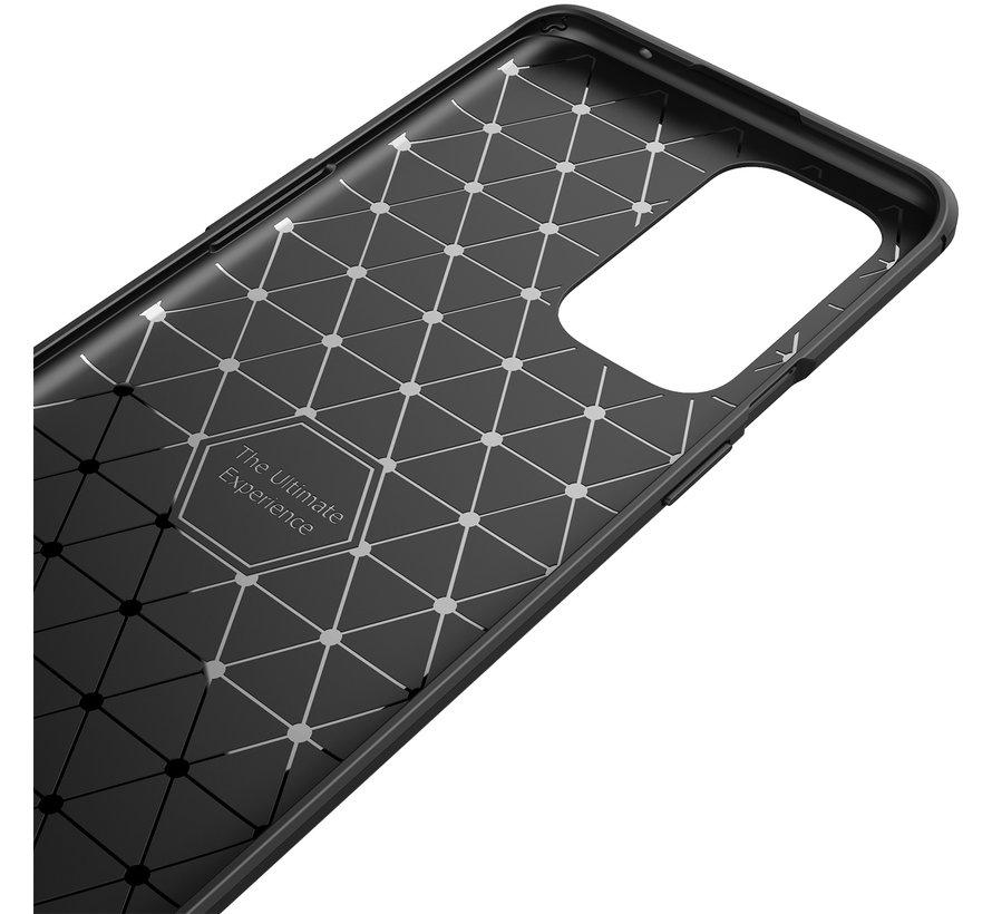 OnePlus 9 Pro Hoesje Brushed Carbon Zwart