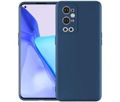 OPPRO OnePlus 9 Pro Hoesje Liquid Silicone Blauw
