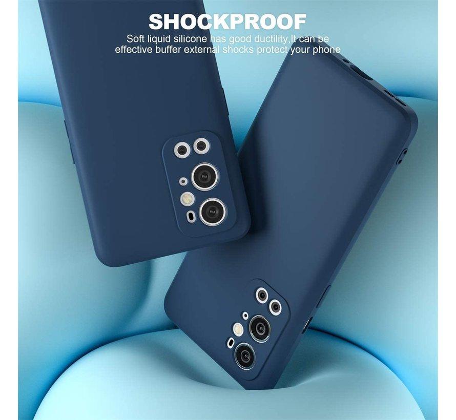 OnePlus 9 Pro Case Flüssiges Silikonblau
