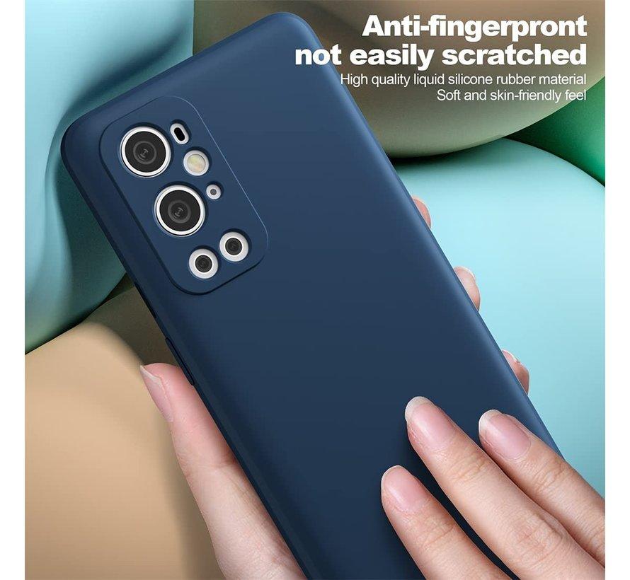 OnePlus 9 Pro Hoesje Liquid Silicone Blauw