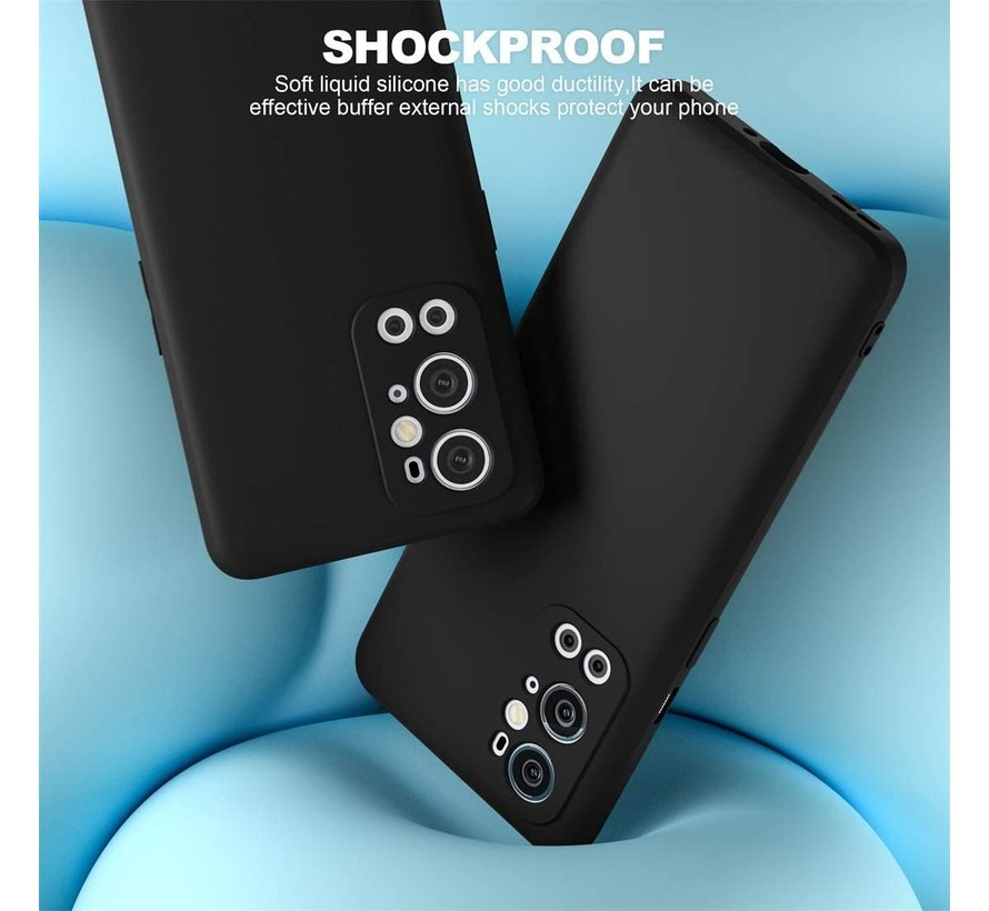 OnePlus 9 Pro Hoesje Liquid Silicone Zwart
