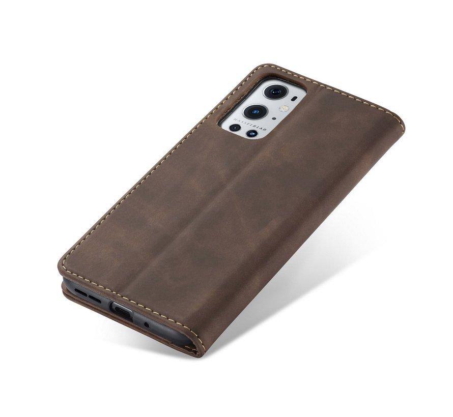 OnePlus 9 Pro Brieftasche Vintage Leder Braun