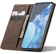 OPPRO OnePlus 9 Pro Wallet Hoesje Vintage Leder Bruin