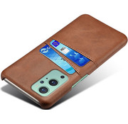 OPPRO OnePlus 9 Pro Hoesje Slim Leder Kaarthouder Bruin
