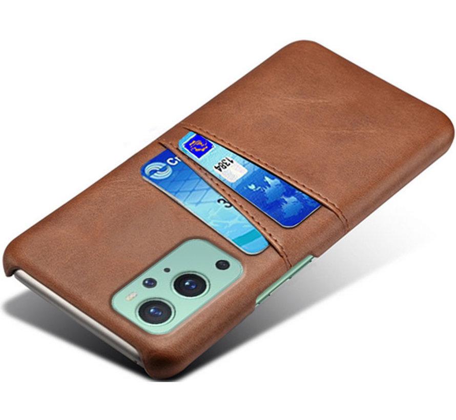 OnePlus 9 Pro Hoesje Slim Leder Kaarthouder Bruin