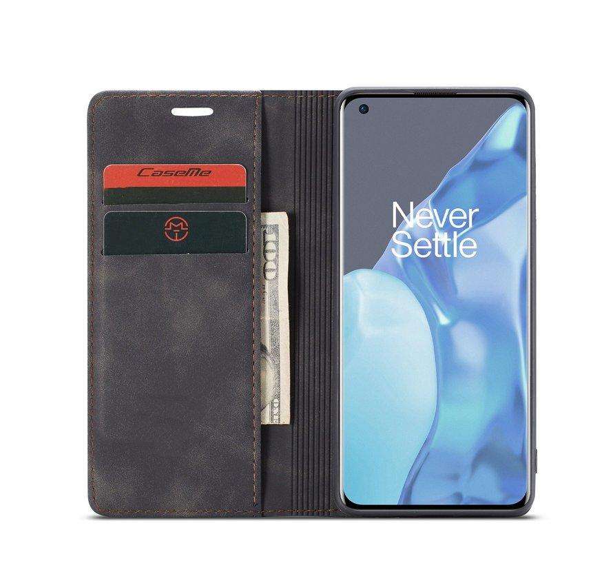 OnePlus 9 Pro Brieftasche Vintage Leder Schwarz