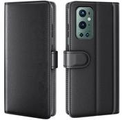 OPPRO OnePlus 9 Pro Wallet Case Echtleder Schwarz