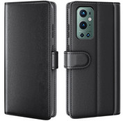 OPPRO OnePlus 9 Pro Wallet Hoesje Echt Leder Zwart