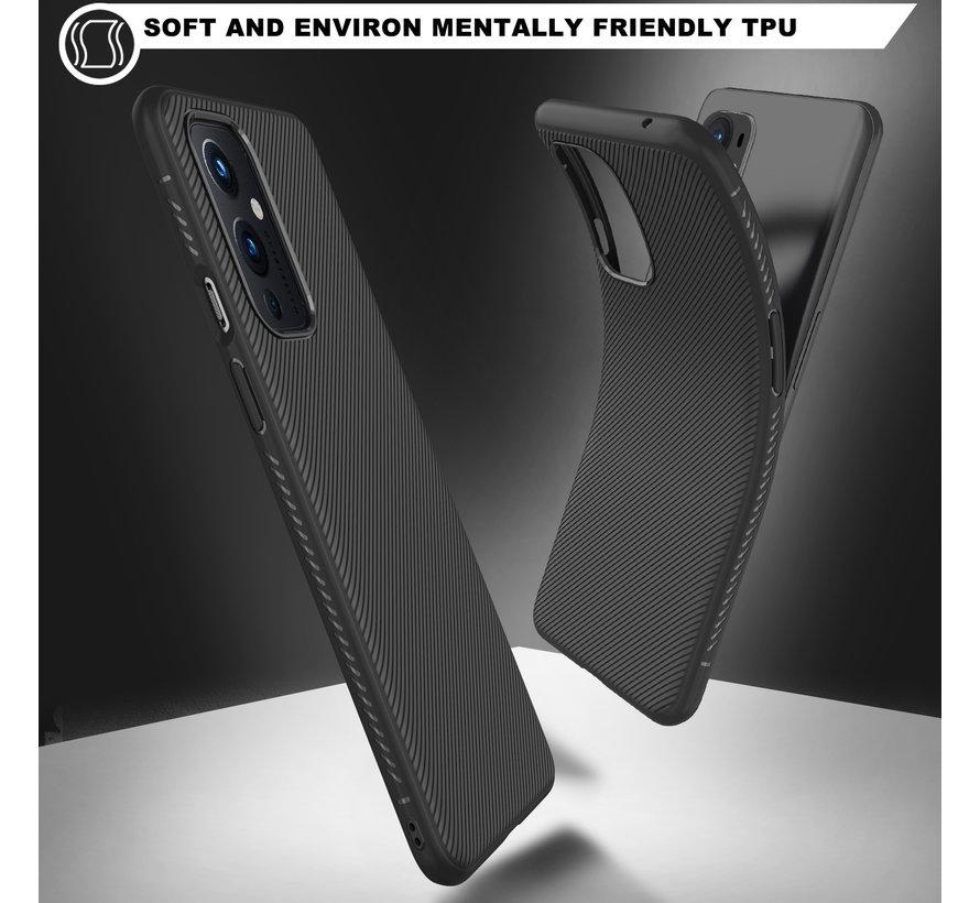 OnePlus 9 Hoesje TPU GripLine Zwart