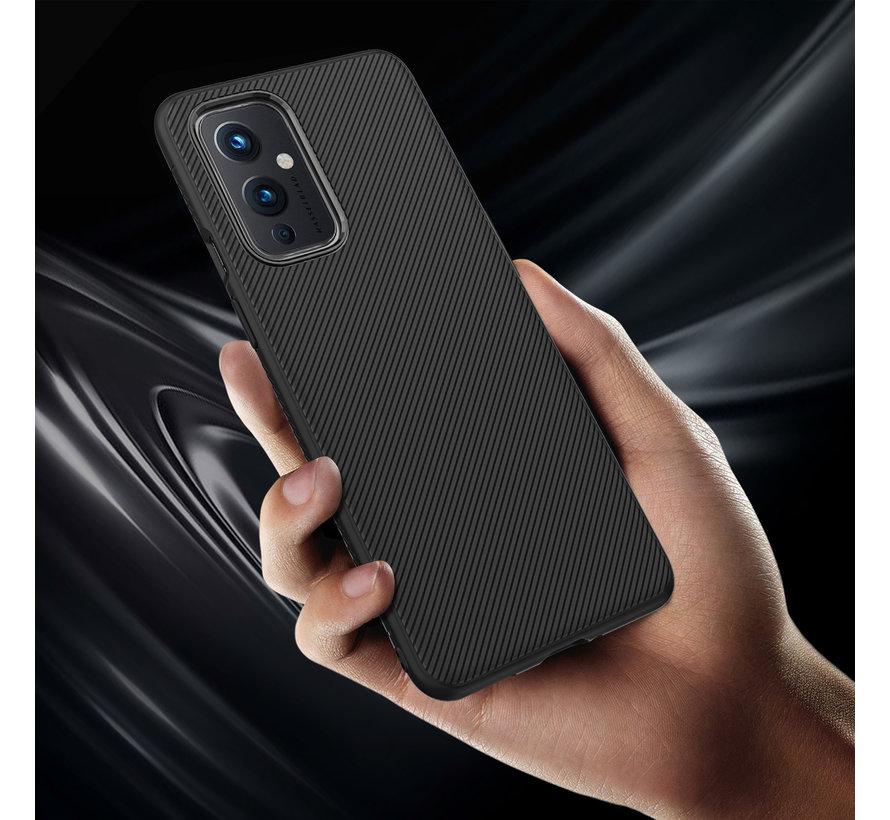 OnePlus 9 Gehäuse TPU GripLine Schwarz