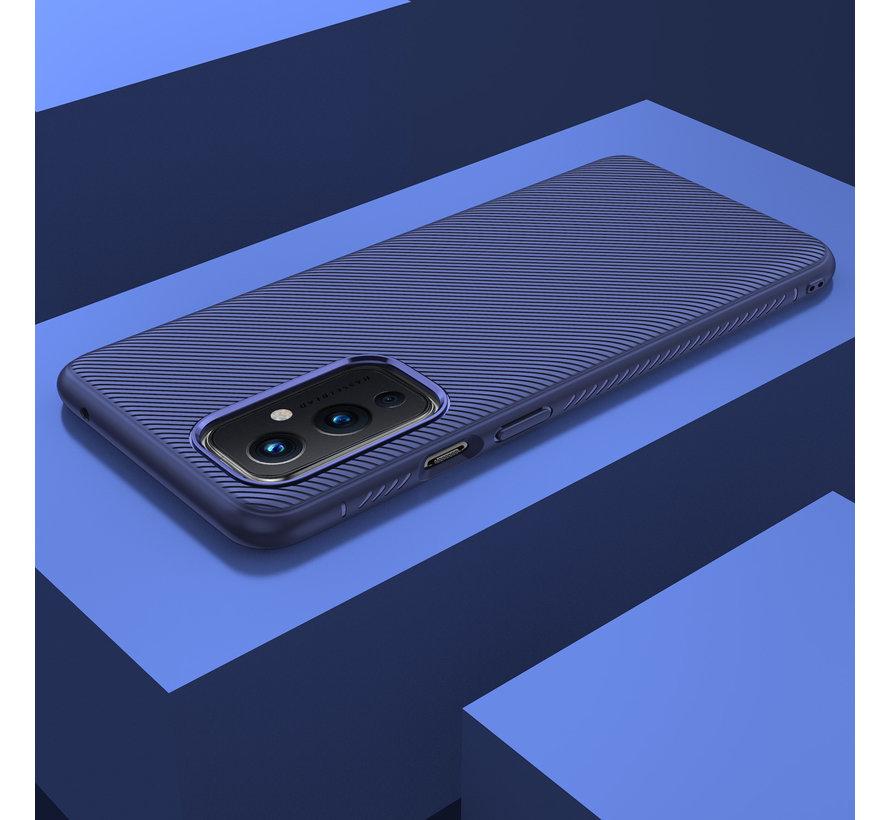 OnePlus 9 Case TPU GripLine Blau